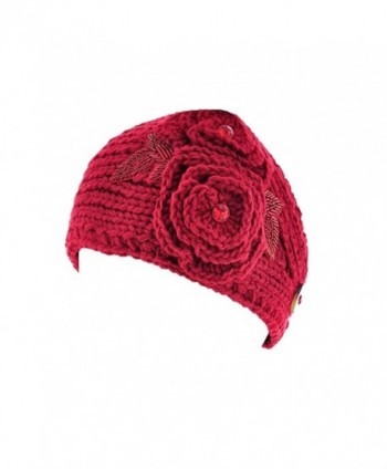 Wholesale Princess Women's Crochet/Knitted Head wrap - Dark Red - CN11VH0S6C3