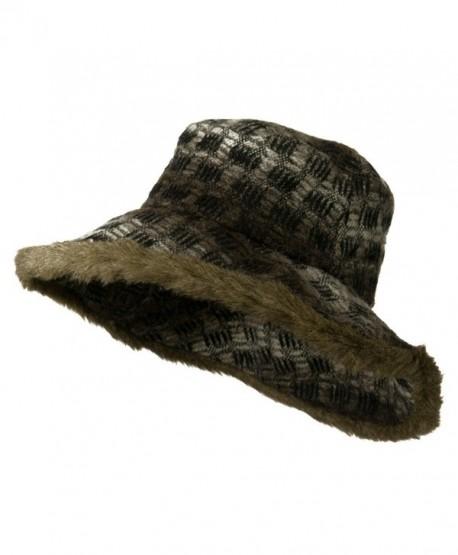 Lady's Brown Faux Fur Trim Hat - Brown W24S45A - CY11BKZZ907