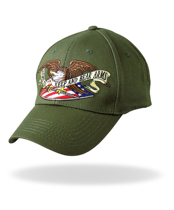 Hot Leathers Right to Bear Arms Ball Cap (Military Green) - Military Green - CL118S5HM1B