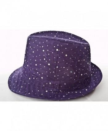 Sparkle Glitter Fedora Hat Society in Women's Fedoras