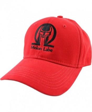 Molon Labe Baseball Cap - Red - CH12837I0J1