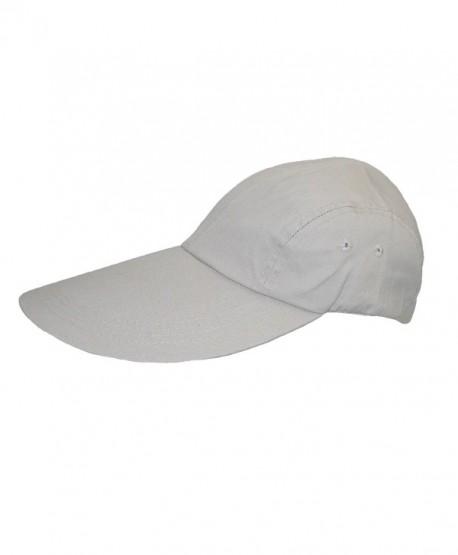 CTM Cotton Long 5 Inch Bill Visor Baseball Cap - Stone - C711CQDS8UF