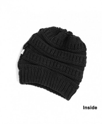 Lamdgbway Trendy Beanie Stretch Ponytail