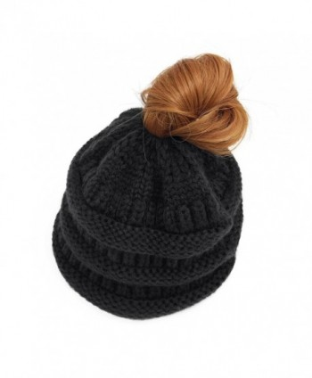 Lamdgbway Trendy Beanie Stretch Ponytail in Women's Skullies & Beanies