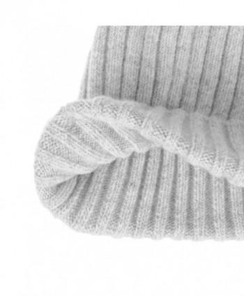 WITHMOONS Ribbed Knitted Beanie Slouchy in Women's Skullies & Beanies