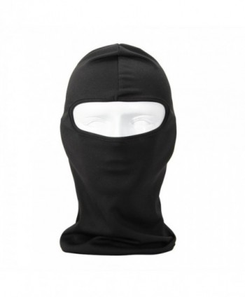 NewNow Candy Color Ultra Thin Windproof Winter Ski Face Mask Great Under A Bike Warm Balaclava Hood - Black - C011G5TFZLV