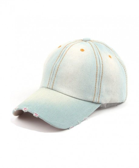 65e235c9d685b7 Denim Baseball Caps Vintage Style Plain Caps Adjustable Strap Baseball Hat  - 2c - CQ182L9AHC5