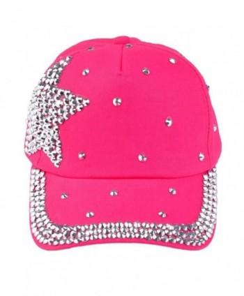 GOTD Kids Hat Baseball Caps caps Snapback Girls Boys Toddlers Summer Sun Hats - Hot Pink - CT12BU3L9Y3