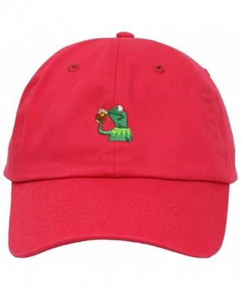"Kermit The Frog ""Sipping Tea"" Adjustable Hot Pink Strapback Cap - CS12IL2A08L"