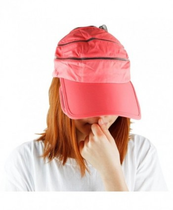 Sun Visor Hat For Women-Summer 2 In 1 Band Expanding Brim Sport Cap -  Watermelon Red - CW12JDYYGY1