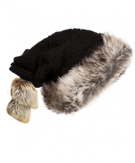 950f0e2777844 Kuyou Women s Winter Christmas Santa Hat Knit Hat Wool Cap (Black) -  C8188IXCTDA