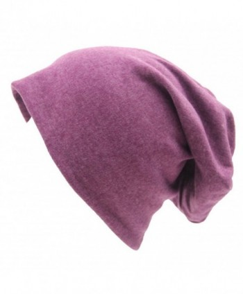 Eliffete Unisex Fashion Outdoor Sport Beanies Baggy Hippop Cotton Hat Skull Caps - B Purple - CA18655T9LY