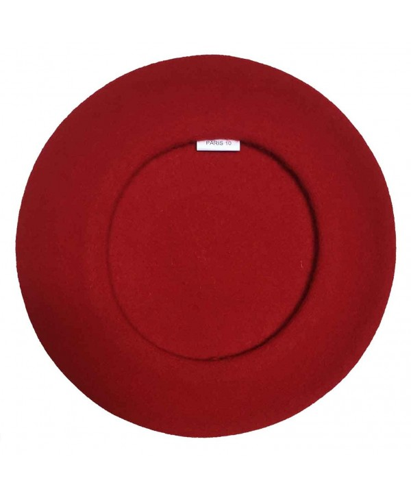 Laulhere Traditional French Wool Beret - Red - CP11KLP23FB