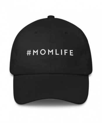 MOMLIFE Mom Life Hat Embroidered Dad Cap By MoodShop Stylish Perfect Gift for Moms - Black - CH17YKNMXMA