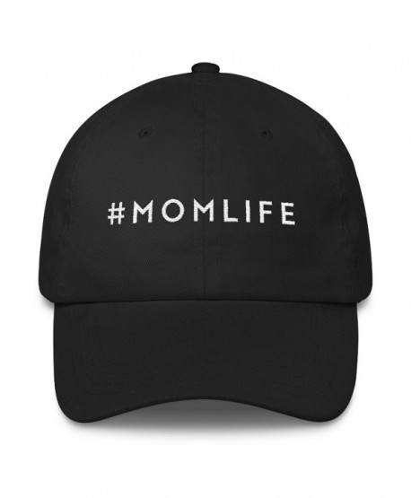 MOMLIFE Mom Life Hat Embroidered Dad Cap By MoodShop Stylish Perfect Gift  for Moms - Black 889c5cfa992