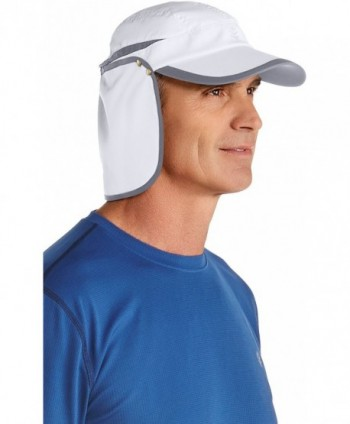 Coolibar UPF 50+ Unisex Sunbreaker Running Cap - Sun Protective - White/Carbon - CZ12FA9AWUD