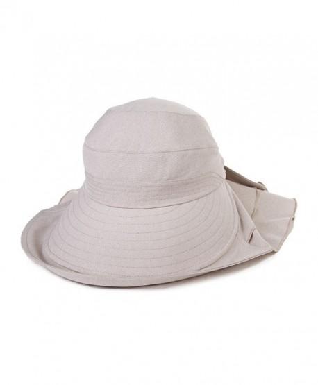 Siggi Ladies Wide Brim Visor Caps Packable Linen Summer SPF50 Vent Free Size - 16031_beige - CF12GGQFARF