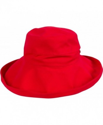 Sakkas Everyday Essentials Cotton Summer Hat - Red - CC11JNR1PTN