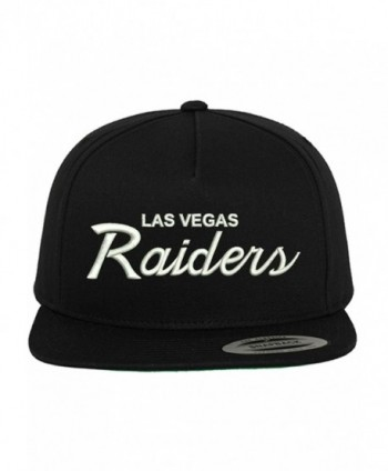 Las Vegas Raiders Embroidered Script Custom Snapback Hat Cap - Black - CL182EOSD4H