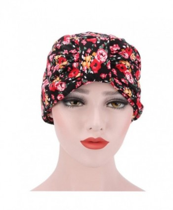 Women's Ruffle Beanie Scarf Head Scarf Hat Cap Muslim Headscarf Chemo Hat Beanie Scarf - 5 - CF1853HCQ2X