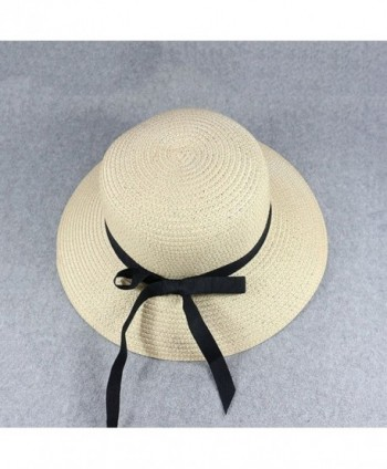 Skyflying Durable Natural Bowknot Dating in Women's Sun Hats