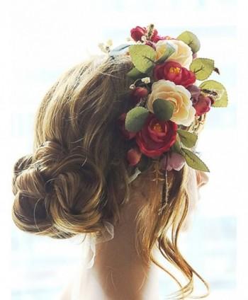 Missgrace Flower Headband Garland Wedding