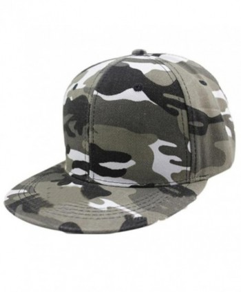 Kemilove Men Women Camouflage Baseball Cap Hip Hop Dance Hat Cap - Grey - CO12IFRTGUV