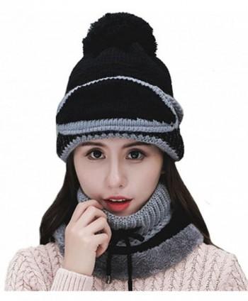 29165f37fe2 Womens Beanie Hat Scarf Mask 3 In 1 Set- Winter Warm Slouchy Knit ...