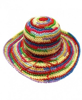 Multicolor Rainbow Floppy Sun Hat - CW1163BGTRF