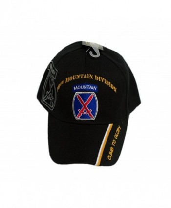 "U.S Army 10th Mountain Division ""Climb to Glory"" Black Shadow Licensed cap623 4-04-B - CP18775RXLG"