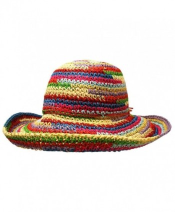Multicolor Rainbow Floppy Sun Hat