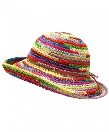 Multicolor Rainbow Floppy Sun Hat in Women's Sun Hats