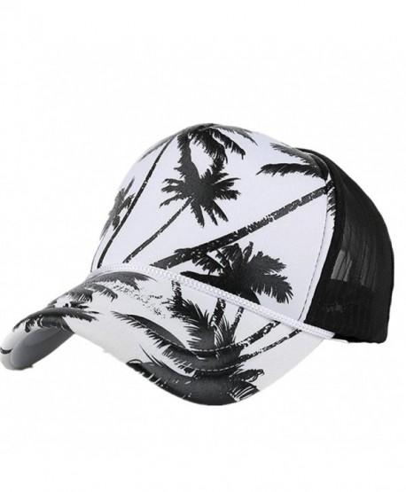 3a9a6dd6 Highpot Women Men Fashion Coconut Tree Printing Snapback Hip Hop Flat Hat -  Black - C11832N50K2