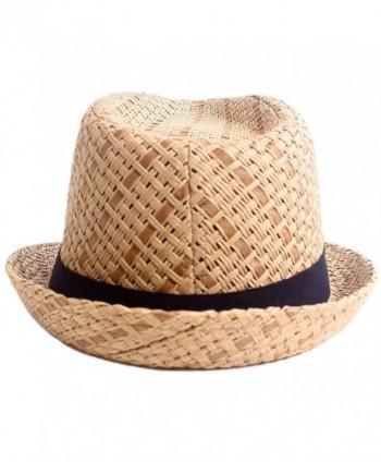 d161796cc6df7 Men   Women Summer Short Brim Straw Fedora - 745 brown - CX11ZH47LML