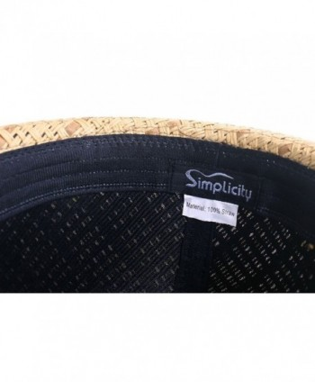 Available. Simplicity Men   Women Summer Short Brim Straw Fedora -  745 brown ... 4d78cfebbf45