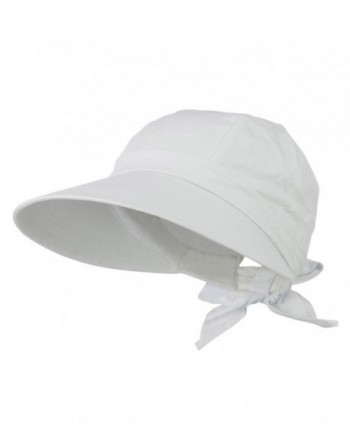 JFH Women's Classic Quintessential Sun Wide Visor Hat in Sold Bold Colors - White - CR11LBM4AAH