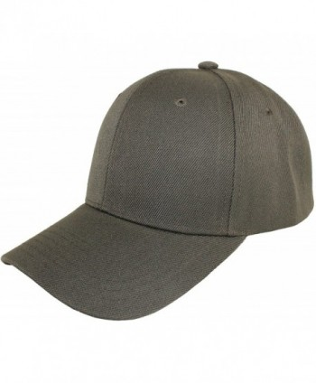 Jh Sports Plain Adjustable Velcro Baseball Cap - Dark Grey - CB11H15OJ65