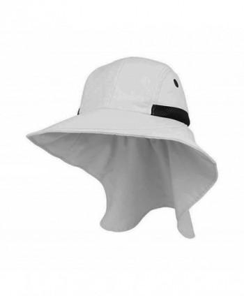 Mega Cap Juniper Womens White Wide Brim Outdoor Sun Flap Hat - CD11KW3350J