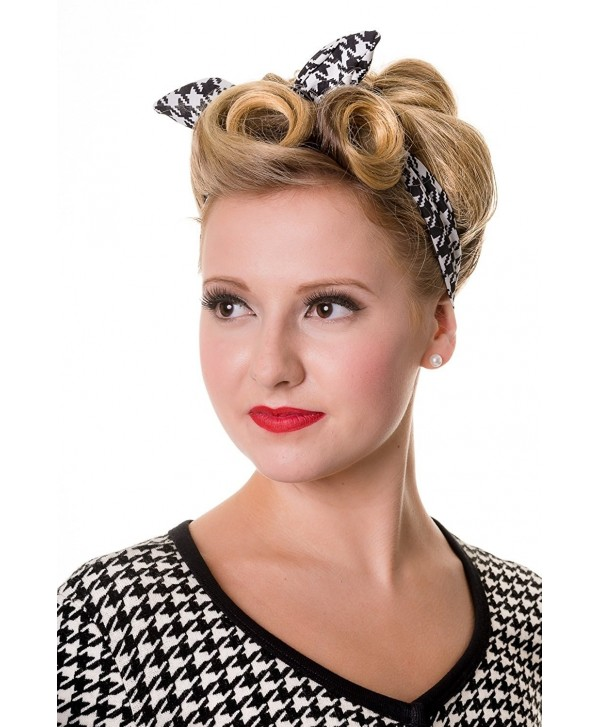 Banned Dog Tooth Hairband - Black/White - CP11AECOWSV