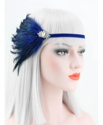 Zivyes Feather Headpiece Flapper Headband