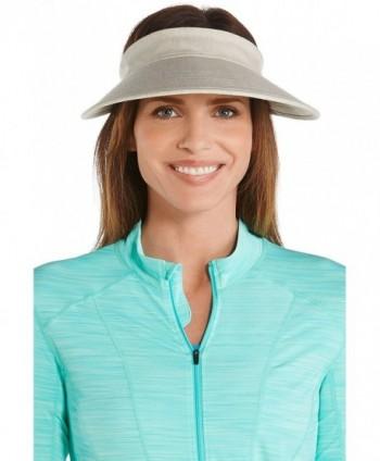 Coolibar UPF 50+ Women's Zip-Off Sun Visor - Sun Protective - Natural Herringbone - C112FA9ZX1R