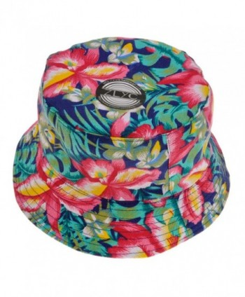 ZLYC Fashion Womens Bucket Hat Fishmen Cap Sun Hat - Flower (Red) - CT1229OEOKX