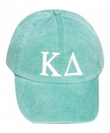 Mega Greek Womens Kappa Delta Baseball Cap - Green - C811WK0P9FB