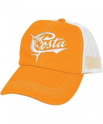 Costa Del Mar Retro Trucker Hat with Snap Closure - Orange/White - CE11IA5I1T5