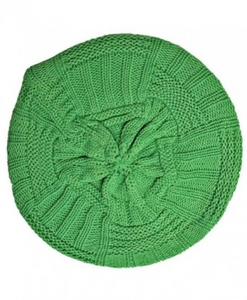 Neon Green Slouchy Knit Beret