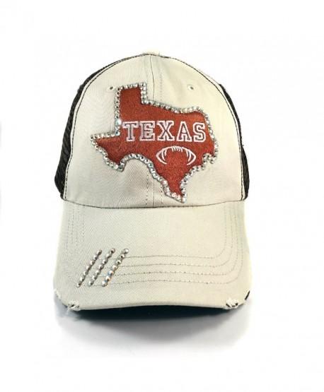 62a35d18b8d48 Elivata Texas State Football Womens Fitted Baseball Hat- Orange Trucker- OS  - CU12MCRIWJV