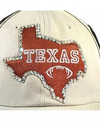 1b093a1f20be4 Available. Elivata Texas State Football Womens Fitted Baseball Hat- Orange  Trucker- ...