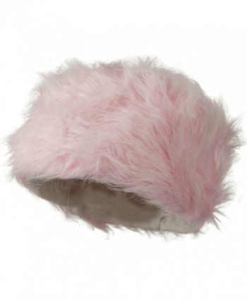 Woman's Faux Fur Bucket Hat - Pink W28S62B - CB11C0N7N61