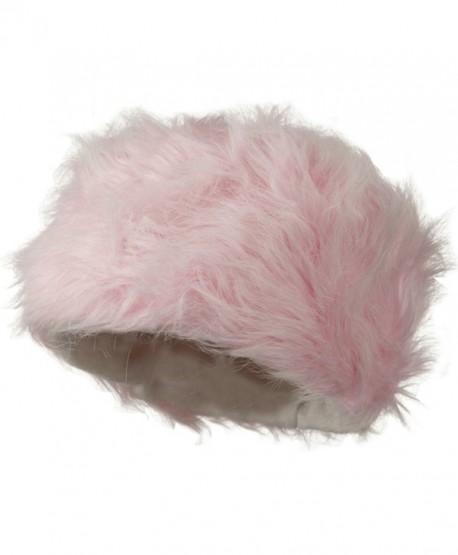 Woman's Faux Fur Bucket Hat - Pink W28S62B - CB11C0N7N61