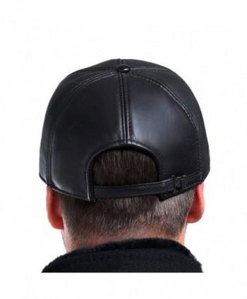 Vemolla Baseball Genuine Sheepskin Adjustable in Men's Baseball Caps